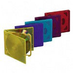 Compucessory 26100 CD/DVD Storage Holders, 4 Capacity, Assorted Colors