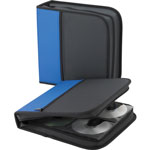 "Compucessory 26337 Blue/Black CD/DVD Wallet, 11 1/2"" x 2"" x 11 1/2"", Blue/Black"