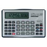 "Compucessory 10-Digit Financial Calculator, 5""x3-1/8""x5/8"", Silver"