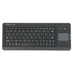 "Compucessory Touchpad Wireless Keyboard, 2.4G, 4-3/8""x11""x7/8"", BK"