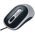 Compucessory Wired Optical Mouse, Black/Silver