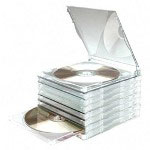 Compucessory 95501 Clear Stackable Jewel Cases for DVDs or CDs