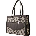 Mobile Edge MEGEJL Large Geneva Tote - Notebook Carrying Case - Black, Taupe