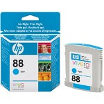 HP C9386AN#140 No. 88 Cyan Inkjet Cartridge, 620 Pages