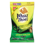 Nabisco Wheat Thins Crackers, Zesty Salsa, 2.5oz Bag, 12/Carton