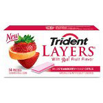 Trident® Layers Gum, 12/Box Wild Strawberry/Tangy Citrus, WE/RD