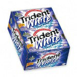 Trident White® Cool Rush Gum, Sugarless, 12 Pieces/Pack, 12 Packs/Display Box