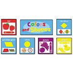 Carson Dellosa Colors & Shapes Quick Stick Bulletin Board Set