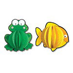 "Carson Dellosa Publishing Company Pop-Its Frogs 3-D, 6""x6"", 3/PK, Green"
