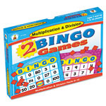 Carson Dellosa Publishing Company 2 Bingo Games, Multiplication/Division, Ages 8 and Up