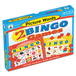Carson Dellosa Publishing Company 2 Bingo Games, Picture Words and More Picture Words, Ages 4 and Up
