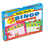 Carson Dellosa Publishing Company 2 Bingo Games, Sight Words and More Sight Words, Ages 6 and Up