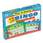 Carson Dellosa Publishing Company 2 Bingo Games, Time/Money, Ages 6 and Up