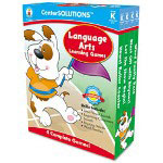 Carson Dellosa Publishing Company Language Arts Learning Games, 4 Game Boards, 2-4 players, Kindergarten