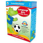 Carson Dellosa Publishing Company Language Arts Learning Games, 4 Game Boards, 2-4 players, Grade 1