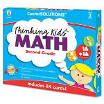 Carson Dellosa Publishing Company Thinking Kids Math Cards, Grade 2 Level