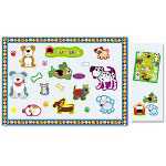 Carson Dellosa Publishing Company Dogs & Cats Bulletin Board Set, Border, Buddies, Stickers