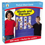Carson Dellosa Publishing Company Blends and Digraphs Cards for Pocket Chart, 4 x 2 3/4, 204 Cards, Ages 4-5