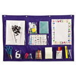 Carson Dellosa Publishing Company Writing Center Pocket Chart, 12 Pockets, Blue, 18 x 33