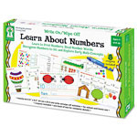 Carson Dellosa Publishing Company Write-On/Wipe-Off Learn About Numbers Activity Set, Ages 4 and Up