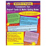 Carson Dellosa Publishing Company Spanish/English Comment Book for Report Cards/Notes, 80 Pages