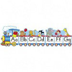 Carson Dellosa Publishing Company Alphabet Train Set, 12-1/2'x1', 2 Illustrations/Letter