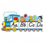 "Carson Dellosa Publishing Company Bulletin Board, Alphabet Train, 9 Pcs., Grades PK-5, 12-1/2""x1"""