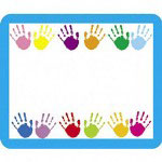 "Carson Dellosa Publishing Company Name Tags, Handprints, 3""x2-1/2"", 40/PK"