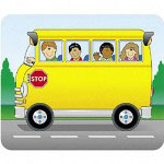 "Carson Dellosa Publishing Company Name Tags, School Bus, 3""x2-1/2"", 40/PK"
