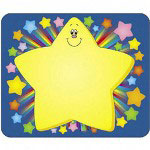 "Carson Dellosa Publishing Company Name Tags, Rainbow Star, 3"" x 2 1/2"""