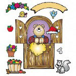 Carson Dellosa Publishing Company Bulletin Board, Beary Big Door, 6 Boards, Grade PK-2, 3'x3-3/10'
