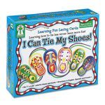 Carson Dellosa Publishing Company I Can Tie My Shoes! Lacing Cards, 6 Cards/6 Shoe Laces, Ages 4+