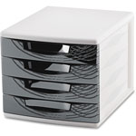 "CEP 4-Drawer Module, 11-4/5"" x 14-1/2"" x 10-2/5"", Black"