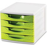 "CEP 4-Drawer Module, 11-4/5"" x 14-1/2"" x 10-2/5"", Green"