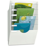 CEP Wall File, White Body, Crystal Dividers, 6 Comp, White