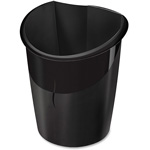 "CEP ISIS Recycled Waste Bin, 1'x8.5"" x 1.3', Black"