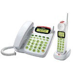 Uniden White 5.8 GHz Corded/Cordless Telephone Loud and Clear