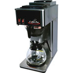 "CoffeePro 2-Burner Coffeemaker, 10"" x 12"" x 22"" 3 Prong Cord, Stainless ST"