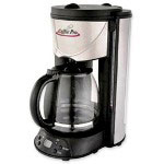 "CoffeePro Coffeemaker, 12-Cup, 8"" x 11"" x 14"", Stainless Steel/Black"