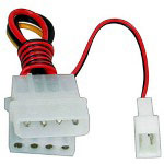 Startech Fan Adapter - TX3 To 2x LP4 Power Y Splitter Cable - Power Splitter - 6 In