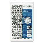 "Chartpak/Pickett Press On Vinyl Uppercase Letters/Numbers, 1/2"" High, Black"