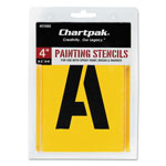 "Chartpak/Pickett Painting Stencil Set, 4"" Gothic Style Capital Letters, Numbers, Other Characters"