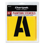 "Chartpak/Pickett Painting Stencil Set, 6"" Gothic Style Capital Letters, Numbers, Other Characters"