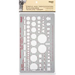 "Chartpak/Pickett Circle & ID Template, 10""x5 7/8"", Soft Gray"
