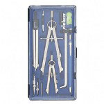 Chartpak/Pickett Drafting Set, 5 Piece, Chrome Plated Fine Tool Steel, Silver