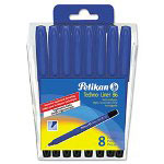 Chartpak/Pickett Technical Drawing Pen Set, 0.1MM to 0.8MM, Black, 8 per Pack