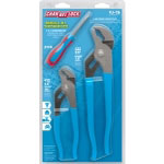 Channellock 2 Piece V-Jaw Tongue and Groove Pliers with Bonus Screwdriver