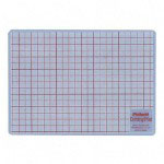 "Chartpak/Pickett Cutting Mat, 8 1/2""x12"", White Translucent With Red Lines"