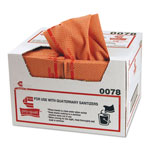 Chicopee Pro-Quat Fresh Guy Food Service Towels, Heavy Duty, 12 1/2 X 17, Red, 150/carton