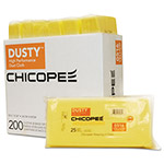 Chicopee Dusty Disposable Dust Cloths, 10 1/4 x 24, Yellow, Rayon/Polyester, 25/Bag